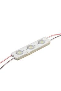 Светодиодный кластер 12В белый холодный 3led smd5730 1.5Вт герметичный