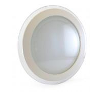 Светильник точечный со стеклом 18Вт 4000К круг негерметичный