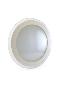 Светильник точечный со стеклом 18Вт 3000К круг негерметичный