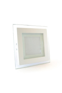 Светильник точечный со стеклом 6Вт 4000К квадрат негерметичный