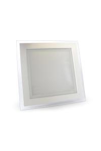 Светильник точечный со стеклом 18Вт 3000К квадрат негерметичный
