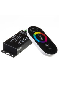 Контроллер черный RGB 18A-216Вт, (6 кнопок)