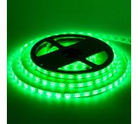 Лента светодиодная зеленая 12V smd2835 60лед герметичная, 1м