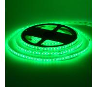 Лента светодиодная зеленая 12V smd2835 120лед герметичная, 1м