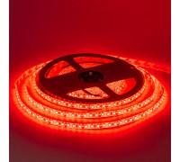 Led лента красная 12V smd2835 120LED/m IP65, 1м