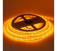 Лента светодиодная желтая 12V smd2835 120лед негерметичная, 1м