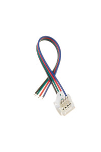 Led коннектор RGB 10 мм провод+зажим