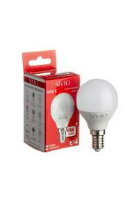 Лампа светодиодная Sivio теплая белая G45 6W E14 3000K