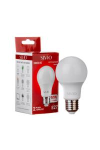 Лампа светодиодная Sivio теплая белая A60 10W E27 3000K