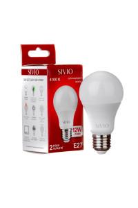 Лампа светодиодная Sivio нейтральная белая A60 12W E27 4100K