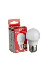 Лампа светодиодная Sivio теплая белая G45 5W E27 3000K