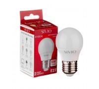 Лампа светодиодная Sivio нейтральная белая G45 5W E27 4100K