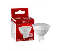 Led лампа SIVIO теплая белая 5W GU5.3 MR16 3000K