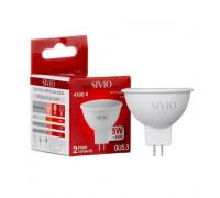 Лампа светодиодная Sivio нейтральная белая MR16 5W GU5.3 4100K