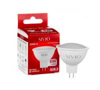 Led лампа SIVIO теплая белая 6W GU5.3 MR16 3000K
