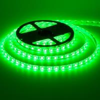 Лента светодиодная зеленая 12V smd5050 60лед негерметичная