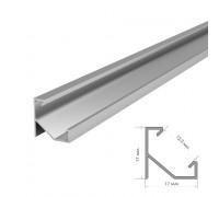 Алюминиевый профиль ПФ-20 без покрытия накладной 1 метр