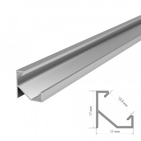 Купить Профиль для LED лент без покрытия накладной ПФ-20 1м