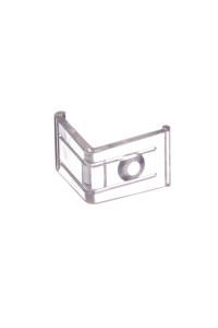 Крепеж угловой для светодиодного профиля ПФ-8 пластик