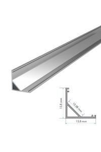Профиль для LED лент накладной угловой ПФ-9 полуматовый рассеиватель (комплект) 2м