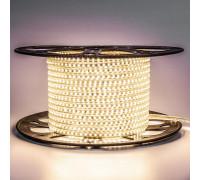 Лента светодиодная белая теплая 220V AVT smd2835 120лед 4Вт герметичная