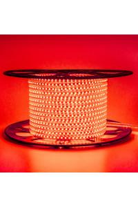 Лента светодиодная красная 220V AVT smd2835 120лед 4Вт герметичная