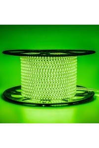Лента светодиодная зеленая 220V AVT smd2835 120лед 4Вт герметичная