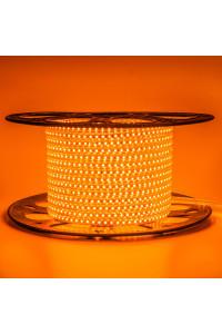Лента светодиодная оранжевая 220V AVT smd2835 120лед 4Вт герметичная