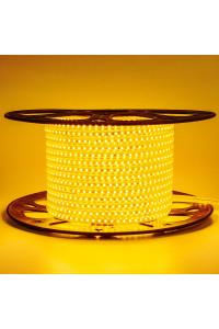 Лента светодиодная желтая 220V AVT smd2835 120лед 4Вт герметичная