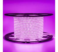 Led лента розовая 220V AVT smd2835 120LED/m 4Вт/m IP65, 1м