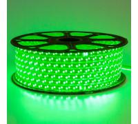 Led лента зеленая 220V smd2835 120LED/m 12Вт/m IP65, 1м