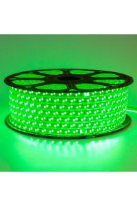 Лента светодиодная зеленая 220V smd2835 120лед 12Вт герметичная