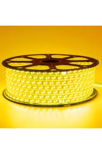 Лента светодиодная желтая 220V smd2835 120лед 12Вт герметичная