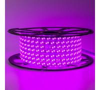 Лента светодиодная розовая 220V smd2835 120лед 12Вт герметичная, 1м