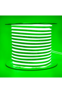 Лента неоновая зеленая AVT 220V smd2835 120лед 7Вт герметичная