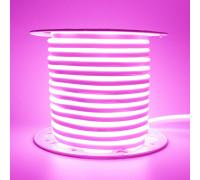 Лента неоновая розовая AVT 220V smd2835 120лед 7Вт герметичная , 1м