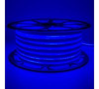 Лента неоновая синяя 220V smd2835 120лед 12Вт герметичная , 1м