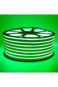 Лента неоновая зеленая 220V smd2835 120лед 12Вт герметичная