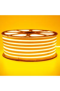 Лента неоновая желтая 220V smd2835 120лед 12Вт герметичная
