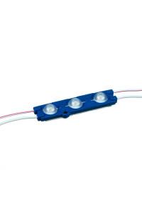 Светодиодный кластер 12В синий 3led smd5730 1.5Вт герметичный