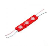 Светодиодный модуль   красный 12V smd5730 3LED 1.5W IP65 (66мм)