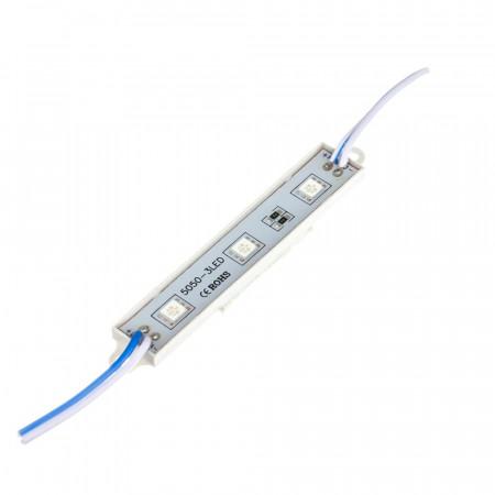 Купить Светодиодный кластер 12В синий 3led smd5050 0.72Вт герметичный