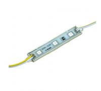 Светодиодный кластер 12В желтый 3led smd5050 0.72Вт герметичный