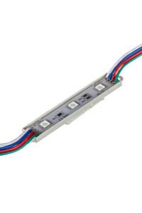 Светодиодный кластер 12В 3led rgb smd5050 0.72Вт герметичный