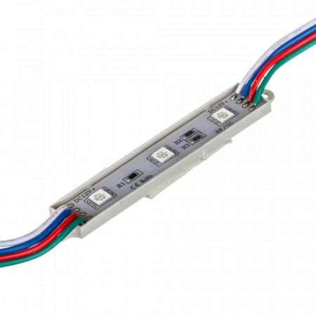 Купить Светодиодный кластер 12В 3led rgb smd5050 0.72Вт герметичный
