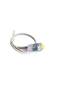 Светодиодный кластер 12В белый теплый 1led 0.08Вт герметичный