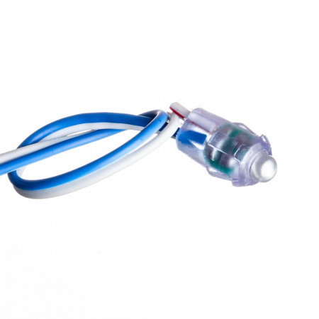 Купить Светодиодный кластер 12В синий 1led 0.08Вт герметичный
