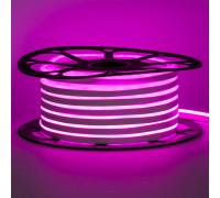 Лента неоновая розовая AVT-1 220V smd2835 120лед 7Вт герметичная , 1м