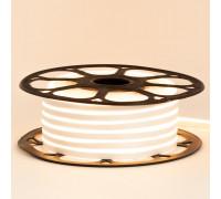 Неоновая светодиодная лента белая теплая 12V AVT 120LED/m 6W/m 6*12 IP65 silicone, 1м