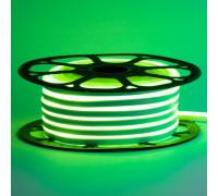 Неоновая светодиодная лента зеленая 12V AVT 120LED/m 6W/m 6*12 IP65 silicone, 1м